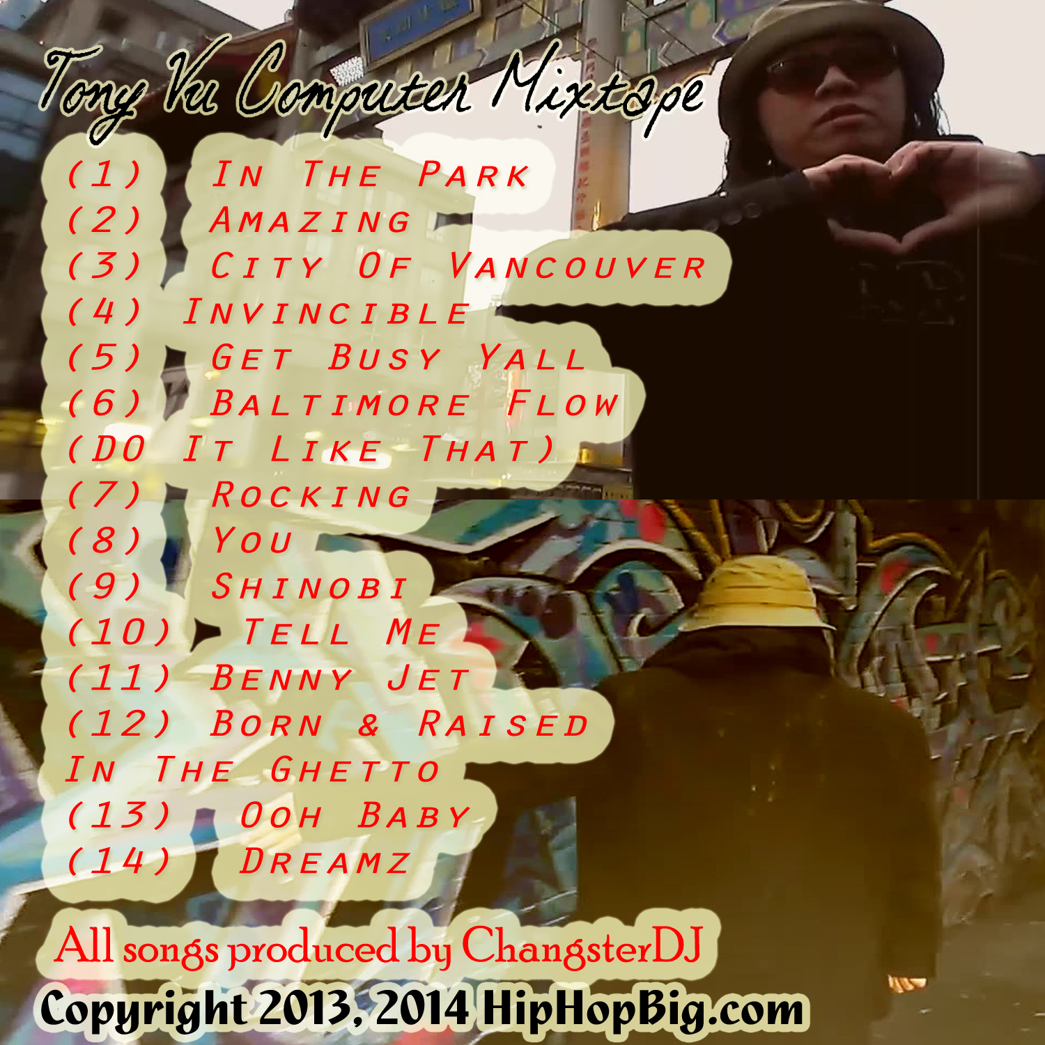 TVC mixtape back cover copy